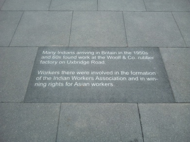 Pic.4 Engraved history in Southall's cobbled pavement (1)